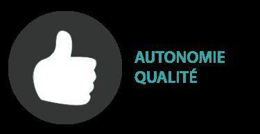 Autonomie Qualité  : La livraison des fichiers en haute qualité (prêt pour l'impression et pour le web) en pdf, eps, jpg (possible en vectoriel quand il s'agit de création de logo).