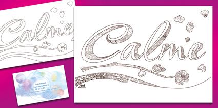 : Support à coloriage pour zentangle et carte de visite