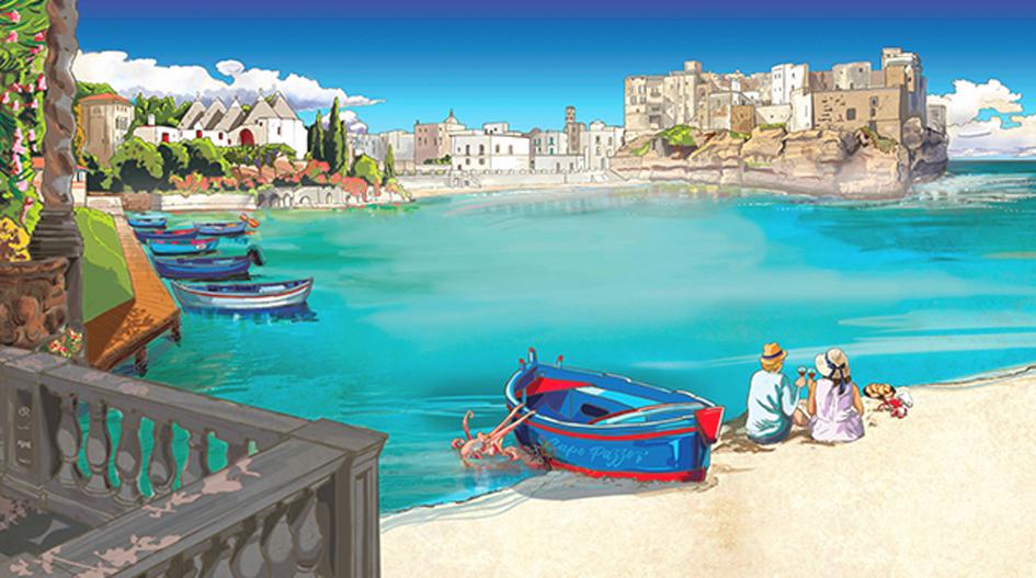 """: Fresque sur mesure sur le thème """"Italie"""""""