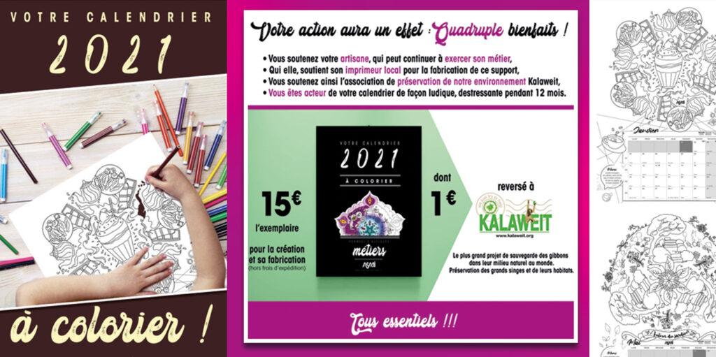 : Création d'un calendrier à colorier au profit de Kalaweit