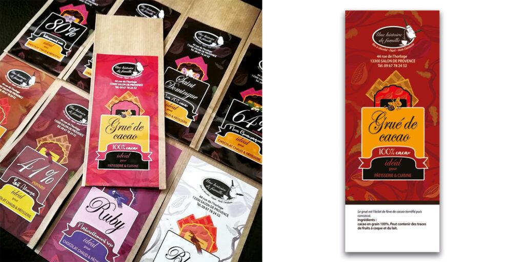 : Stickers illustrés personnalisés pour packaging