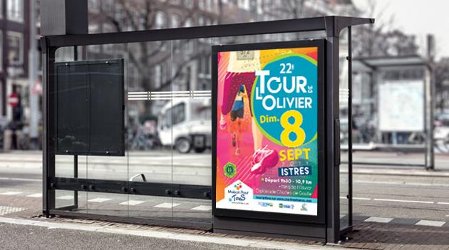 """:  Affiche pour """"le Tour de L'Olivier"""""""